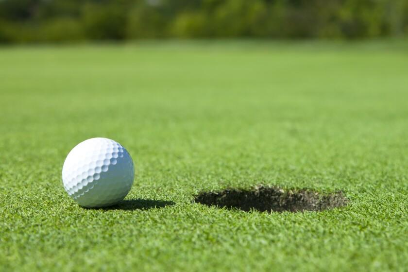 Golf Ball by Hole