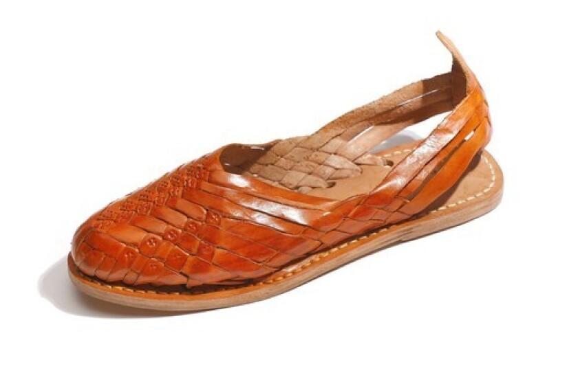 A huarache sandal.