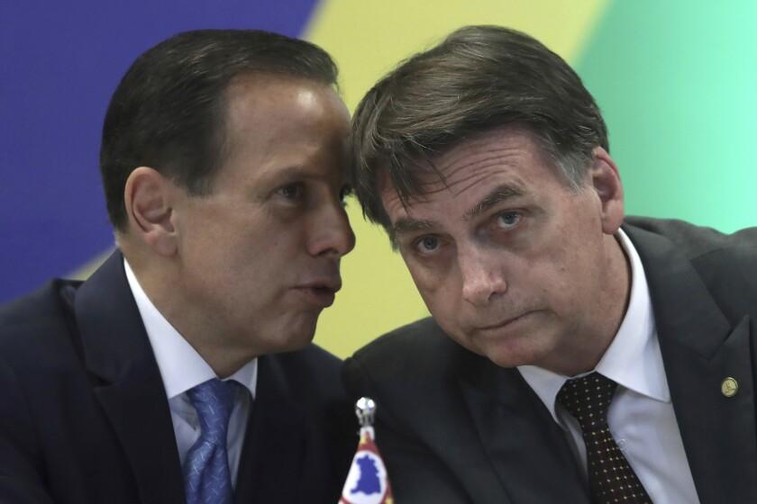 Virus Outbreak Sao Paulo Governor