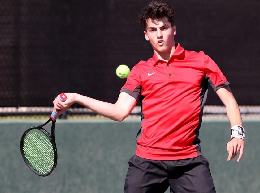 Photo Gallery: Burroughs boys tennis vs. Burbank