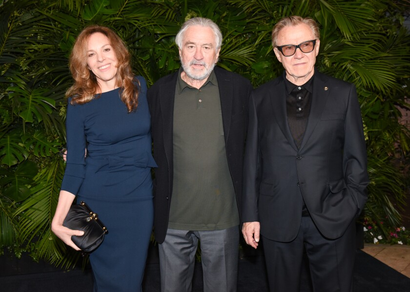 Daphna Kastner, Robert De Niro and Harvey Keitel