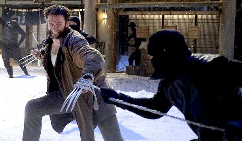 """Hugh Jackman stars as """"The Wolverine,"""" which was the No. 1 film at the box office this weekend."""