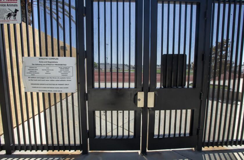 Huntington Beach High School's Cap Sheue Field, home to the Huntington Beach, Edison and Fountain Valley football programs.