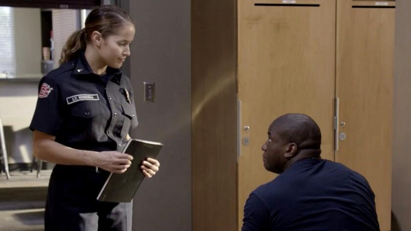 """Jaina Lee Ortiz and Okieriete Onaodowan in """"Station 19"""" on ABC."""