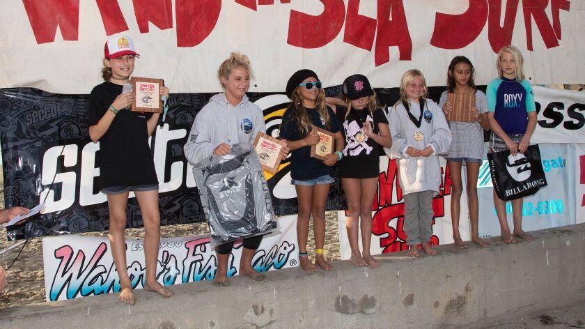 Girls Longboard 8-12 finalists (not in order): Jordyn Kelly, Harmonie Keller, Rory Engh, Madeline Rubalcaba, Isabella Carreno, Margo Krueger, Gigi Smith