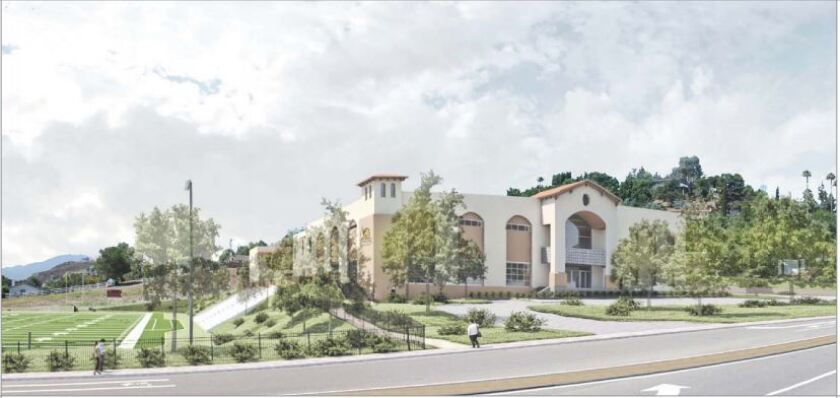 An artist's conception of the Liberty Charter campus in Rancho San Diego.