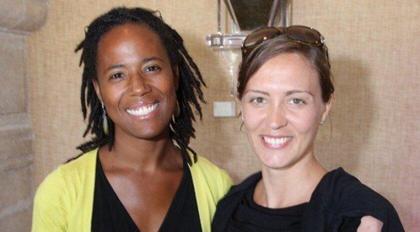 Isis Keigwin with author Vanessa Diffenbaugh (Photo: Jon Clark)