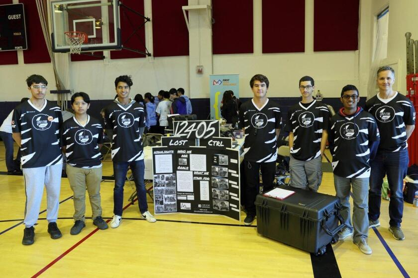 "Members of the ""Lost Control"" team from El Camino HS in Oceanside"