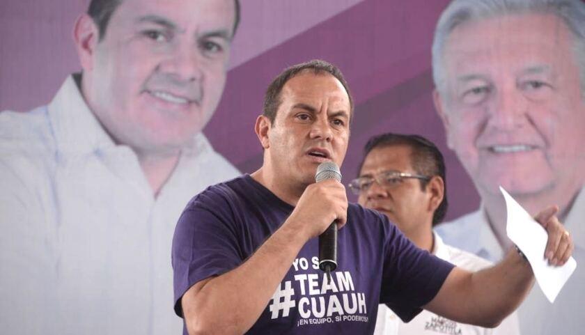 Cuauhtémoc Blanco, ex futbolista y Gobernador de Morelos, México.
