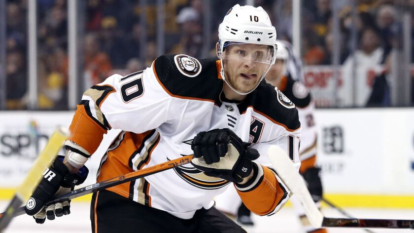 Corey Perry won the Hart Trophy and a Stanley Cup championship during his 14 years with the Ducks.