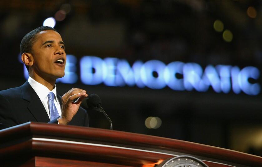 Orador principal de Barack Obama en el Congreso Demócrata de 2004.