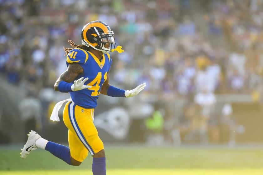 Rams defensive back Marqui Christian.