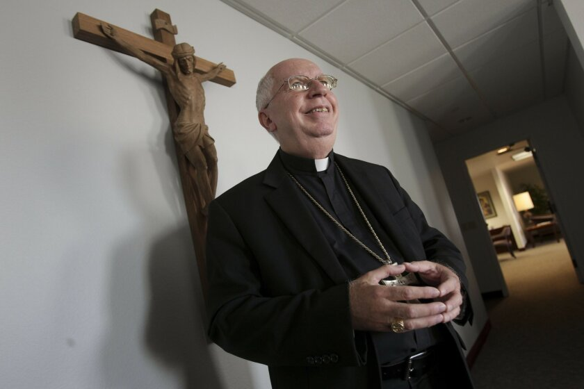 Bishop Cirilo Flores at the Pastoral Center in San Diego, shortly after he was named as the new head of the Roman Catholic Diocese of San Diego.
