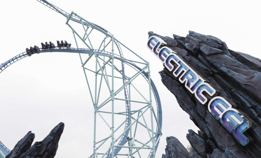 The Electric Eel coaster at SeaWorld.