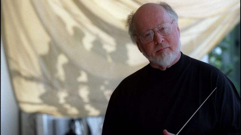 Composer John Williams is a Hollywood Bowl veteran. Here, he is seen before a Bowl appearance in July 1998.