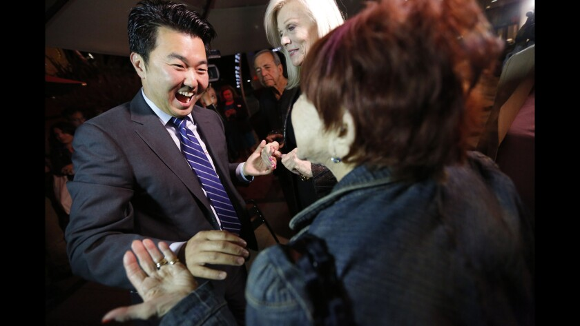 The race for Tom LaBonge's City Council seat came down to a runoff between David Ryu and Carolyn Ramsay.