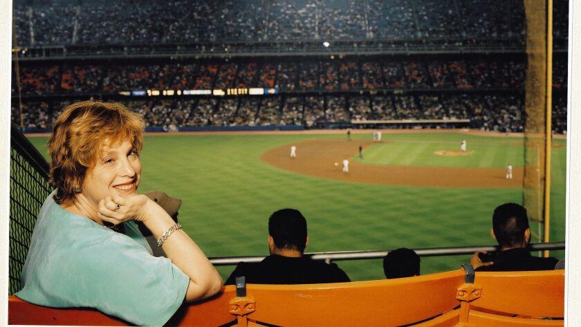 Jane Leavy at Dodger Stadium.