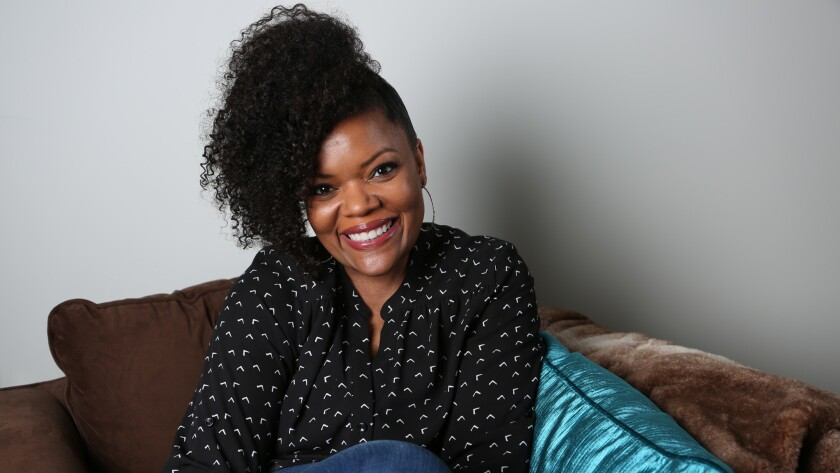 "Actress and activist Yvette Nicole Brown is photographed in her dressing room on the set of ""The Odd Couple"" at CBS Studios in Studio City."