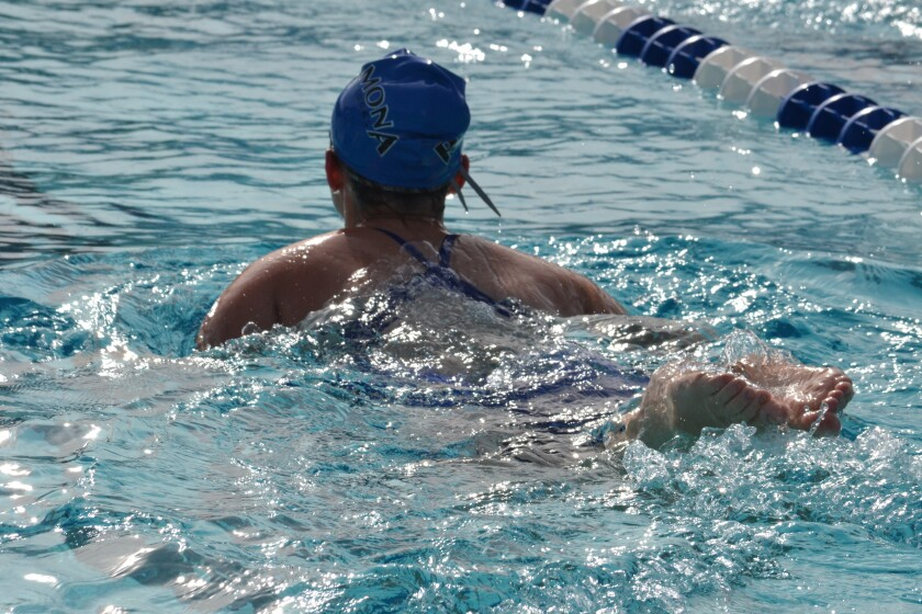 Ramona High School's swim teams competed against Vista High School in Vista on Feb. 26.