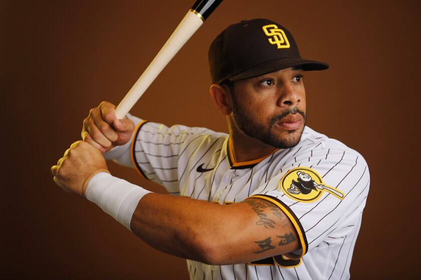 San Diego Padres outfielder Tommy Pham. .