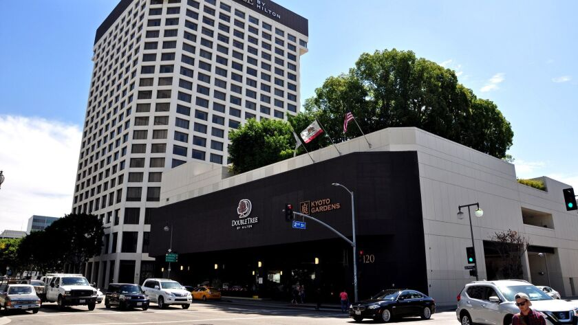 LOS ANGELES, CALIF. - JULY 27, 2017 - The DoubleTree by Hilton Hotel Los Angeles Downtown was purcha