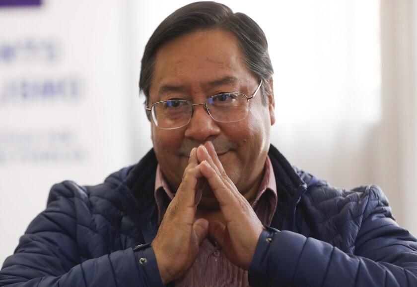 Luis Arce, candidato presidencial del Movimiento al Socialismo (MAS)