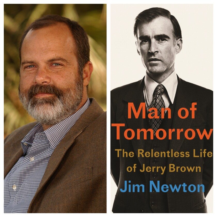 "Author Jim Newton; ""Man of Tomorrow"" book jacket"