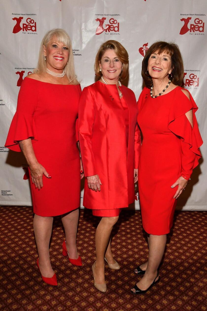 Legendary Women of the Heart 2019 inductees: Joan Embery, Robin Tharp Nordhoff, Nikki Clay