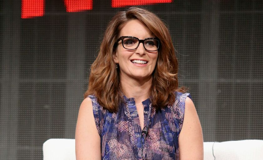 "Creator/executive producer Tina Fey speaks onstage during the ""Unbreakable Kimmy Schmidt"" panel discussion at the Netflix portion of the 2015 Summer TCA Tour at the Beverly Hilton Hotel on July 28."