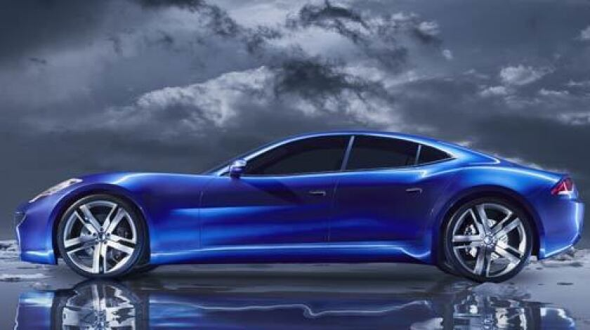 Fisker Automotive made a splash at January's Detroit auto show with a sculptural sedan, the Karma, that it says will reach 125 miles per hour and cost $80,000. Unlike competitors' vehicles, the Karma is a plug-in hybrid, using battery and gasoline power.