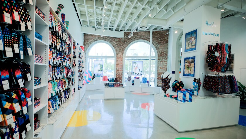 Swedish brand Happy Socks opened its second store in the Los Angeles area, in Silver Lake, in early