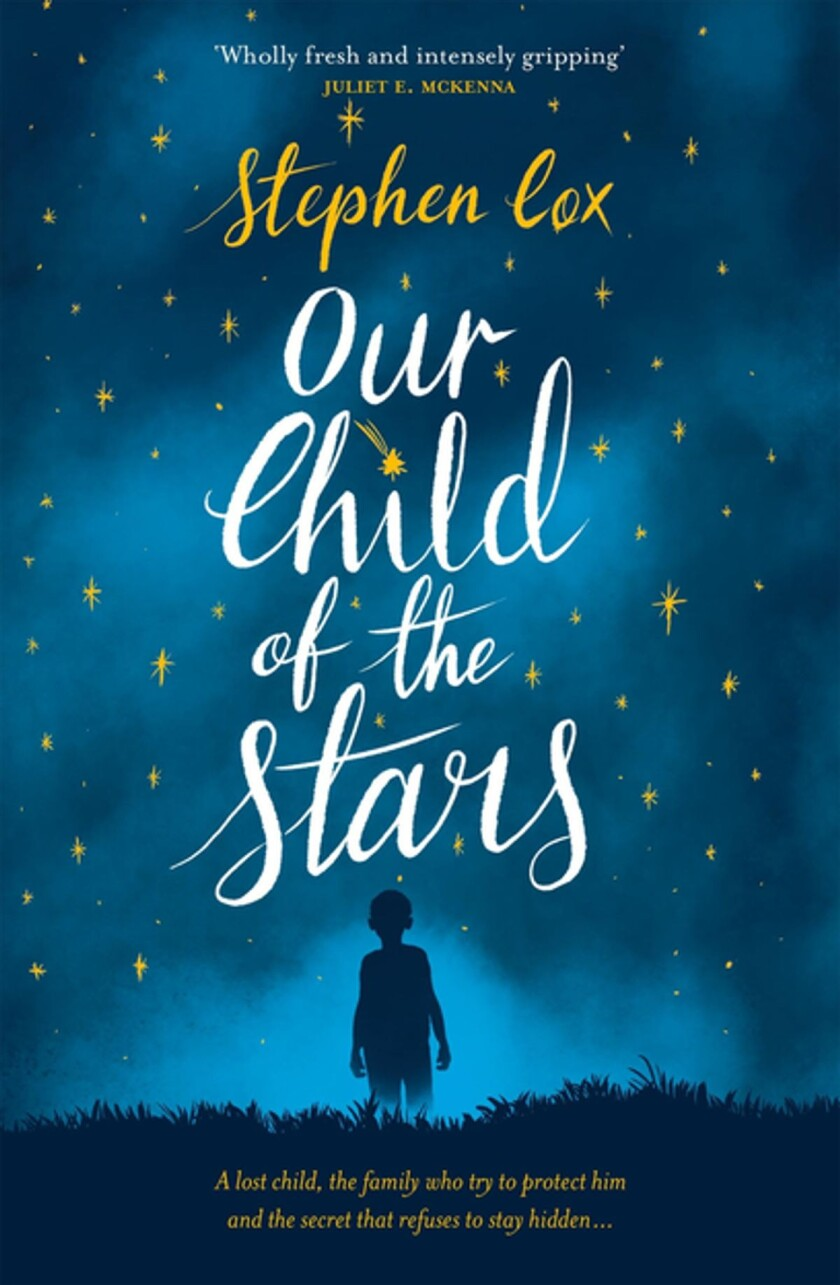 "A book jacket for Stephen Cox's ""Our Child of the Stars."" Credit: Jo Fletcher Books"