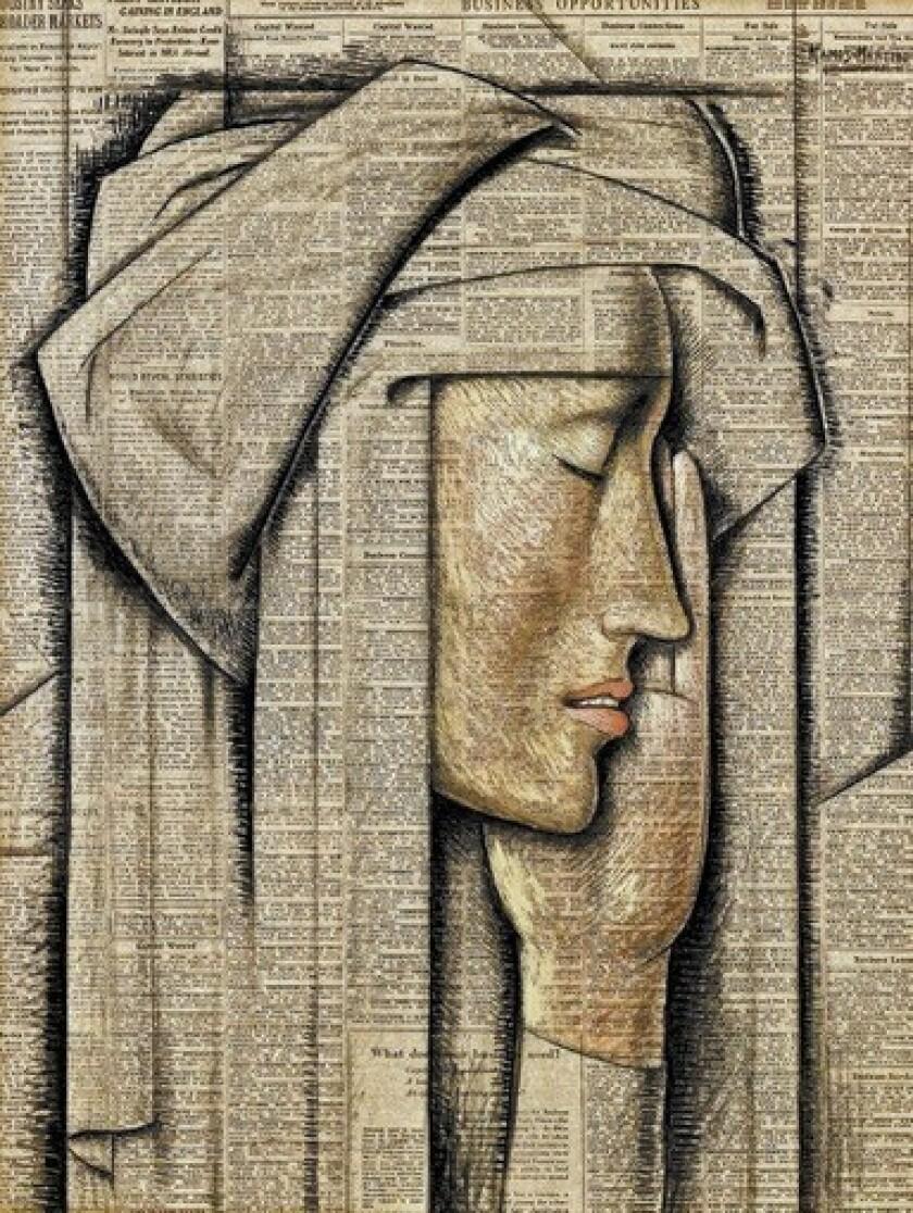 """Alfredo Ramos Martinez's """"Head of a Nun"""""""