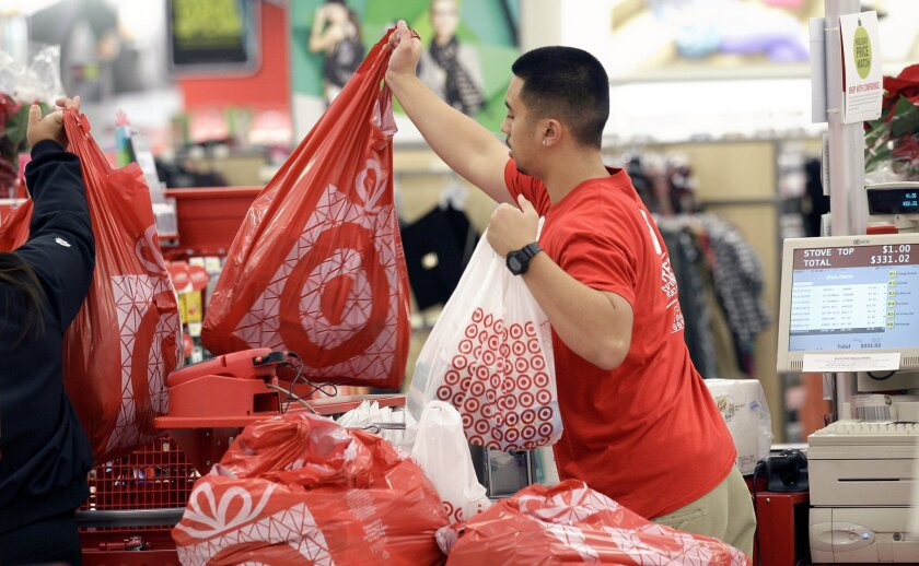 Worker at a Target store