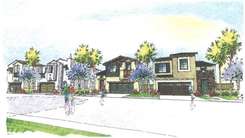 Rendering of the proposed Pacific Ridge gated community at Rancho Del Oro, which would include 314 single family homes and townhomes.