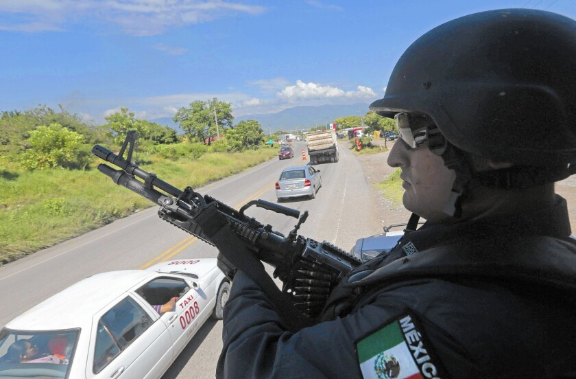 Federal police in Iguala, Mexico