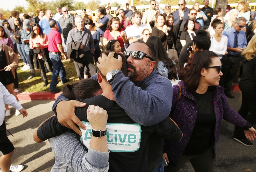 Families reunite after Saugus High School shooting