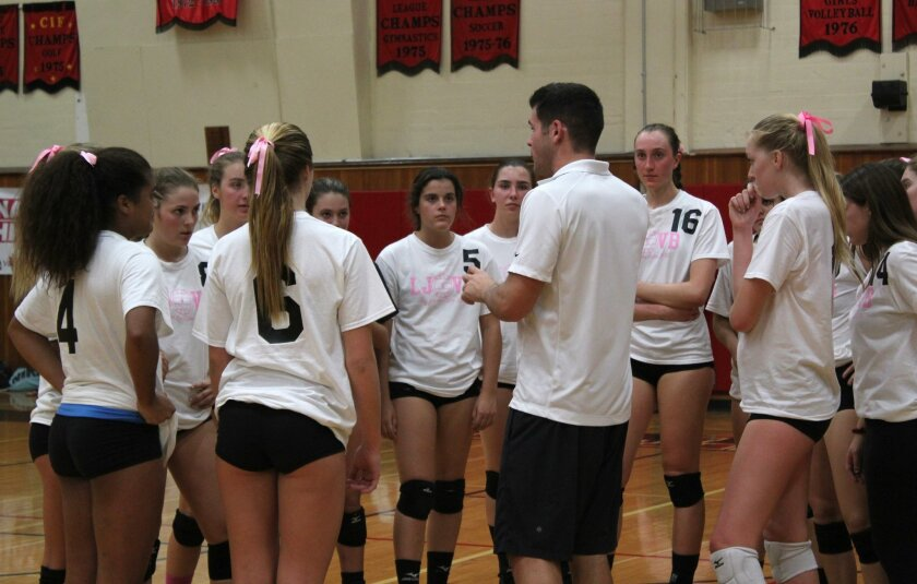 The fall sports' regular seasons have ended as La Jolla High School's girls volleyball team (pictured, with coach Drew Burdette), boys water polo team and field hockey team look forward to the playoffs.