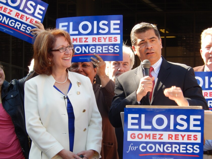 Colton attorney Eloise Gomez Reyes on Friday was endorsed by Rep. Xavier Becerra (D-Los Angeles) in her race for an Inland Empire congressional district seat.