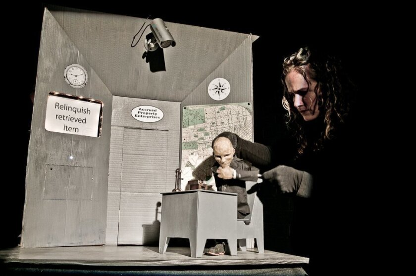 "A scene from Animal Cracker Conspiracy's ""The Collector,"" one of some 50 shows that are part of the first-ever San Diego Fringe Festival."