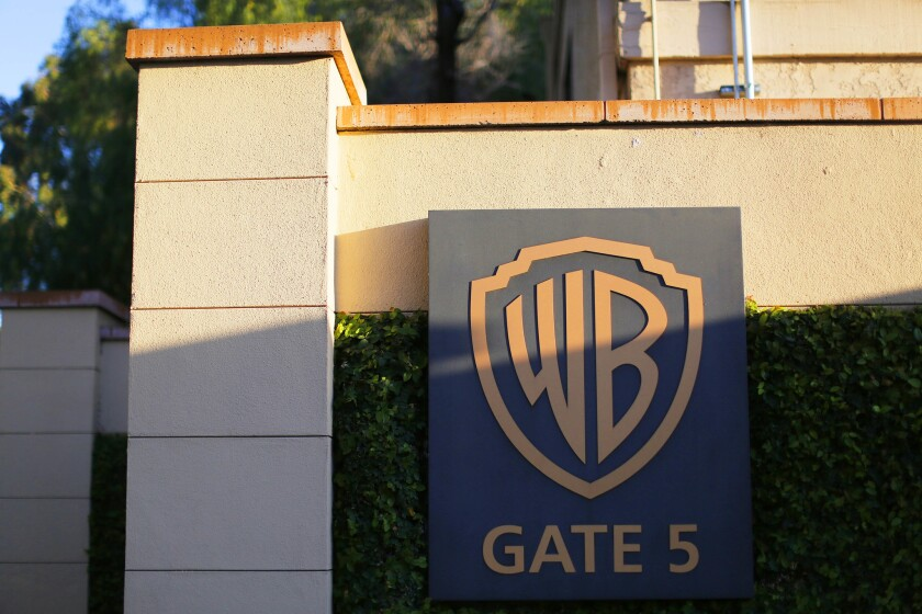Entrance to Warner Bros. movie studio in Burbank.