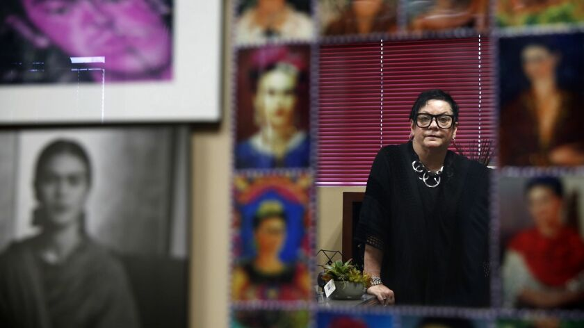 CALEXICO, CA-APRIL 4, 2019: Hildy Carrillo, executive director of the Calexico Chamber of Commerce,