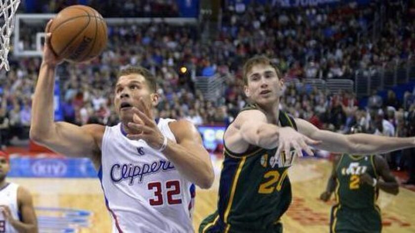 Blake Griffin and the Clippers will take on Gordon Hayward and the Utah Jazz on Monday night in Salt Lake City.