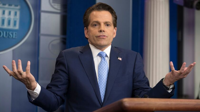 Former White House Communications Director Anthony Scaramucci attends a news conference in the White House in Washington on July 21.