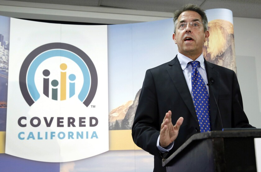 Peter Lee, executive director of Covered California, speaks in 2013.