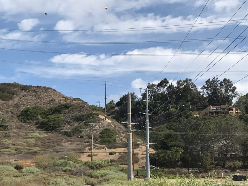 Over a mile of overhead utility lines on Via De La Valle will be the focus of an upcoming undergrounding project.