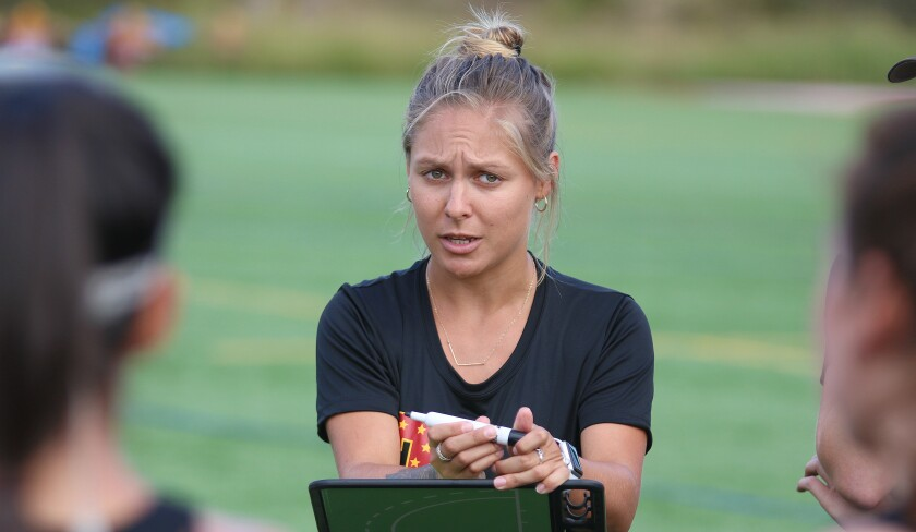 First-year Torrey Pines field hockey coach Courtney Spleen