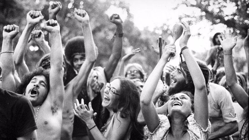 A sense of unity and celebration permeated the Summer of Love, as shown in this photo taken in San F