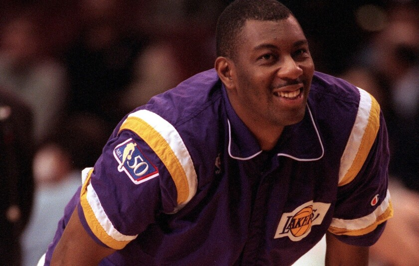 The Lakers' Elden Campbell back in the day circa 1997.