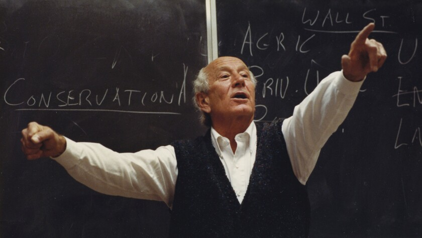 James Weaver lectures on conservation in Oregon in 1990.